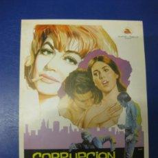 Cine: CORRUPCION INSACIABLE.ROBERT HOFFMAN-DOROTY MALONE. GUIA PUBLICITARIA DOBLE DE LA PELICULA.. Lote 39216543
