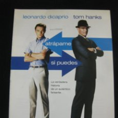 Cine: ATRAPAME SI PUEDES. LEONARDO DI CAPRIO, TOM HANKS... GUIA PUBLICITARIA DOBLE DE LA PELICULA.. Lote 39341089