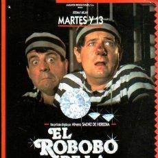 Cine: GUIA PUBLICITARIA DE CINE DE LA PELICULA EL ROBOBO DE LA JOJOYA. MARTES Y 13.. Lote 39429806