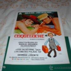 Cine: GUÍA DE LA PELÍCULA COQUELUCHE, CON JUAN LUIS GALIARDO Y ANALÍA GADÉ. Lote 39488554