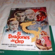 Cine: GUÍA DE LA PELÍCULA 5 DRAGONES DE ORO . Lote 39488613