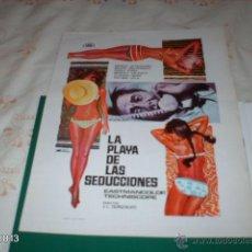 Cine: GUÍA DE LA PELÍCULA LA PLAYA DE LAS SEDUCCIONES, CON MANUEL ALEIXANDRE. Lote 39488624