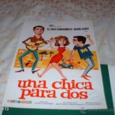 Cine: GUÍA DE LA PELÍCULA UNA CHICA PARA DOS, POR EL DÚO DINÁMICO E IRÁN EORY. Lote 39488660