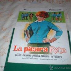 Cine: GUÍA DE LA PELÍCULA LA PÍCARA RITA, POR RITA PAVONE. Lote 39488673