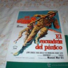 Cine: GUÍA DE LA PELÍCULA EL ESCUADRÓN DEL PÁNICO, DE AGRUPACIÓN VIÑALS. Lote 39488746