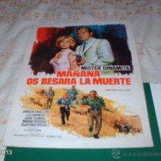 Cine: GUÍA DE LA PELÍCULA MAÑANA OS BESARÁ LA MUERTE, POR GUSTAVO ROJO. Lote 39488763