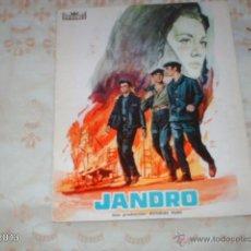 Cine: GUÍA DE LA PELICULA JANDRO, POR ARTURO FERNÁNDEZ Y JULIO COLL. Lote 39517218