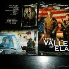 Cine: EN EL VALLE DE ELAH. GUIA PUBLICITARIA DOBLE. ORIGINAL.MAGNIFICO ESTADO.NUEVO.. Lote 277193348