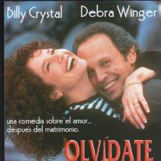 Cine: GUIA PUBLICITARIA DE CINE DE LA PELICULA OLVIDATE DE PARIS. BILLY CRYSTAL. DEBRA WINGER. Lote 40176485