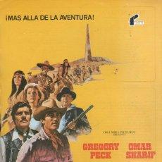 Cine: GUIA PUBLICITARIA DE CINE DE LA PELICULA EL ORO DE MACKENNA. GREGORY PECK. OMAR SHARIF. Lote 40176492