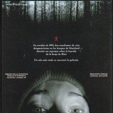 Cine: GUIA PUBLICITARIA DE CINE DE LA PELICULA EL PROYECTO DE LA BRUJA DE BLAIR.. Lote 40176591