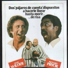 Cine: GUIA PUBLICITARIA DE CINE DE LA PELICULA LOCOS DE REMATE. STIR CRAZY. GENE WILDER. RICHARD PRYOR. Lote 40176813