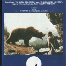 Cine: GUIA PUBLICITARIA DE CINE DE LA PELICULA EL OSO (THE BEAR). OSO YOUK, OSO KAAR, TCHEKY KARYO. Lote 40199555