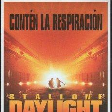 Cine: GUIA PUBLICITARIA DE CINE DE LA PELICULA DAYLIGHT (PANICO EN EL TUNEL). SYLVESTER STALLONE. Lote 40199686