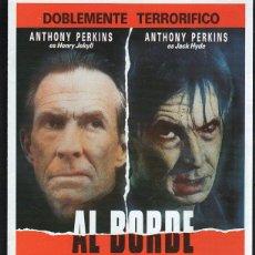 Cine: GUIA PUBLICITARIA DE CINE DE LA PELICULA AL BORDE DE LA LOCURA. ANTHONY PERKINS. Lote 40200464