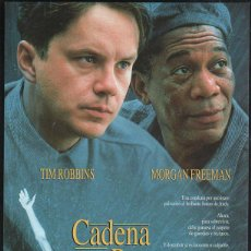 Cine: GUIA PUBLICITARIA DE CINE DE LA PELICULA CADENA PERPETUA. TIM ROBBINS, MORGAN FREEMAN. Lote 40213418