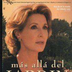 Cine: GUIA PUBLICITARIA DE CINE DE LA PELICULA MAS ALLA DEL JARDIN. CONCHA VELASCO. Lote 40215650