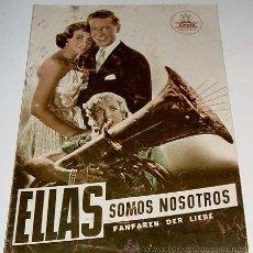 Cine: ELLAS SOMOS NOSOTROS - GUIA DE ESTA PELICULA PRESENTADA POR CIFESA - AÑOS 50 - MUCHAS FOTOGRAFIAS, C. Lote 38241060