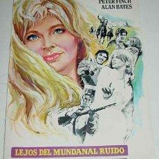 Cine: ANTIGUA GUIA DE LA PELICULA LEJOS DEL MUNDANAL RUIDO - CON JULIE CHRISTIE, TERENCE STAMP, PETER FINC. Lote 38259952