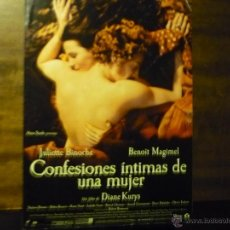 Cine: GUIA CONFESIONES INTIMAS DE UNA MUJER .- JULIETTE BINOCHE. Lote 40303125