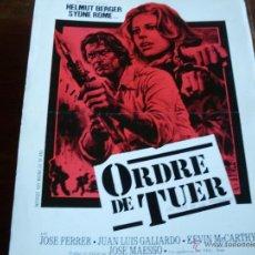Cine: EL CLAN DE LOS INMORALES - ORDRE DE TUER( HELMUT BERGER Y SYDNE ROME) GUIA FRANCESA. Lote 40320981