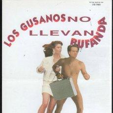 Cine: GUIA PUBLICITARIA DE CINE DE LA PELICULA LOS GUSANOS NO LLEVAN BUFANDA. CLAYTON ROMNER. Lote 40333360