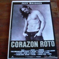 Cine: CORAZON ROTO (JEFF BRIDGES - EDWARD FURLONG). Lote 40338799
