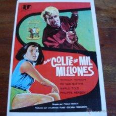 Cine: UN GOLPE DE MIL MILLONES - MARILU TOLO, EDUARDO FAJARDO - GUIA ORIGINAL AÑO 1967. Lote 40348819