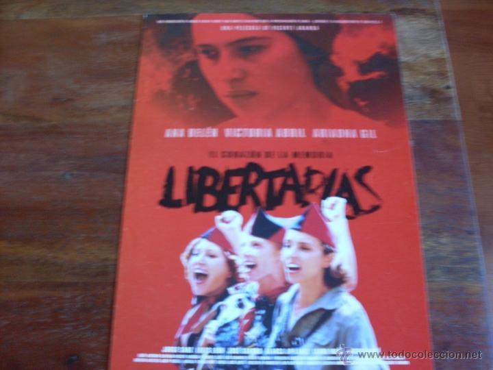 LIBERTARIAS -- ( ANA BELEN, VICTORIA ABRIL, MIGUEL BOSE) DIR. VICENTE ARANDA (Cine - Guías Publicitarias de Películas )
