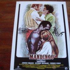 Cine: MANDINGO - JAMES MASON, SUSAN GEORGE, PERRY KING - DIR. RICHARD FLEISCHER - GUIA ORIGINAL AÑO 1975. Lote 40396189