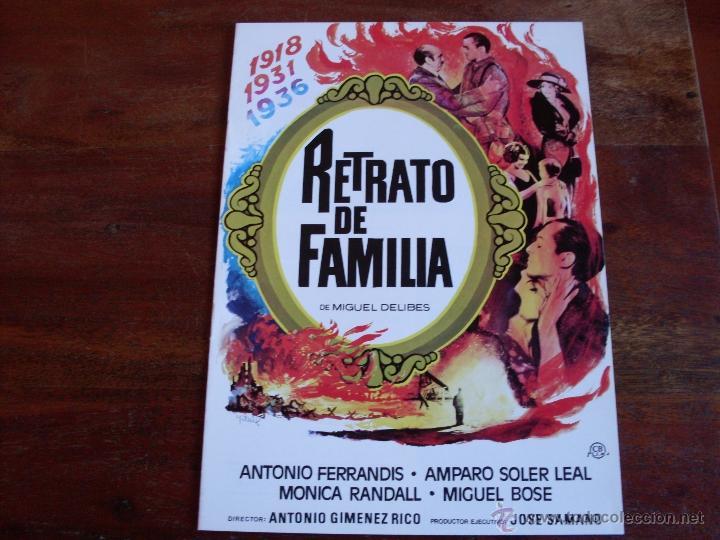 RETRATO DE FAMILIA -- ( ANTONIO FERRANDIS, MONICA RANDALL, MIGUEL BOSE, AMPARO SOLER LEAL) AÑO 1976 (Cine - Guías Publicitarias de Películas )