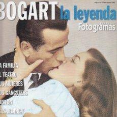 Cine: GUIA REVISTA DEL ACTOR BOGART LA LEYENDA -ESPECIAL FOTOGRAFIAS . Lote 40405203