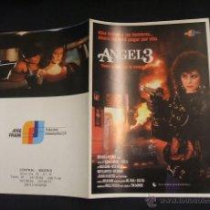 Cine: GUIA PUBLICITARIA DE LA PELICULA ANGEL 3 - . Lote 40445626