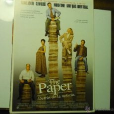 Cine: GUIA DOBLE THE PAPER .- MICHAEL KEATON - GLENN CLOSE. Lote 41050645