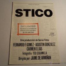 Cine: GUÍA PUBLICITARIA. CB FILMS. STICO. Lote 41108248