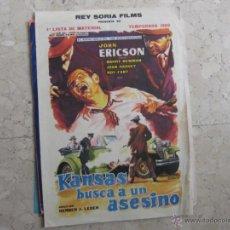 Cine: LISTAS DE MATERIAL REY SORIA FILMS 1962 2 HOJAS . Lote 41566225