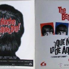 Cinema: ¡QUÉ NOCHE LA DE AQUEL DÍA! - GUIA CD PRENSA REPOSICIÓN - THE BEATLES. Lote 41722418