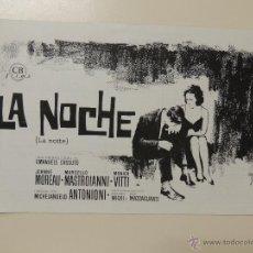 Cine: LA NOCHE - LA NOTTE - GUIA ORIGINAL - MICHELANGELO ANTONIONNI - MASTROIANNI MOREAU VITTI. Lote 42277463
