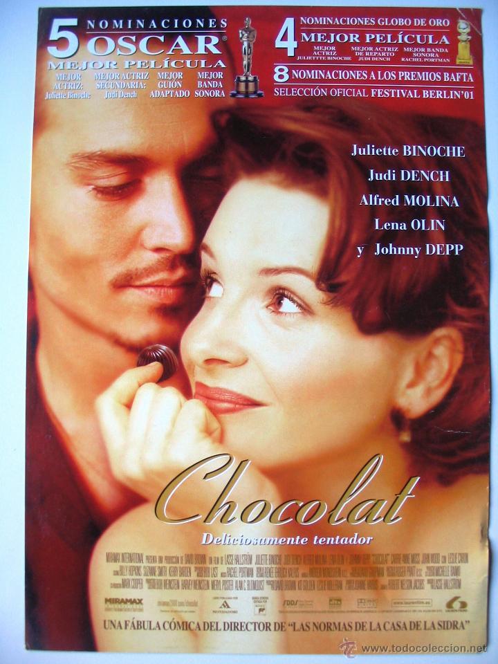 CHOCOLAT - GUIA ORIGINAL ESTRENO - JULIETTE BINOCHE - JOHNNY DEPP (Cine - Guías Publicitarias de Películas )