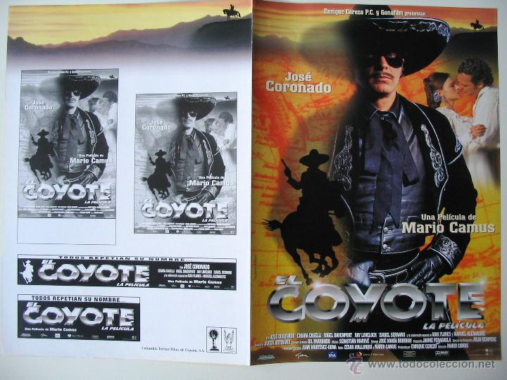 EL COYOTE - GUIA ORIGINAL ESTRENO - JOSÉ CORONADO (Cine - Guías Publicitarias de Películas )