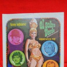 Cine: EL SOBRE VERDE, GUÍA DOBLE, TONY LEBLANC ESPERANZA ROY, PARAMOUNT. Lote 42439104