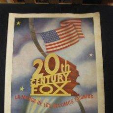 Cine: 20TH CENTURY FOX. 30º ANIVERSARIO 1915-1945.. Lote 42470827