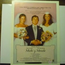 Cinéma: GUIA MICKI Y MAUDE.-DUDLEY MOORE. Lote 42493860