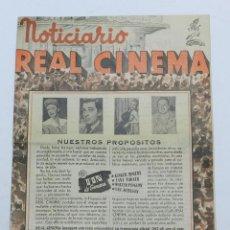 Cine: NOTICIARIO REAL CINEMA, TEMPORADA 1947 - 48, INAGURA LA TEMPORADA CON EL FILM FIN DE SEMANA, GINGER . Lote 42517493