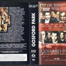 Cinema: CARÁTULA DE VHS - GOSFORD PARK. Lote 42550296