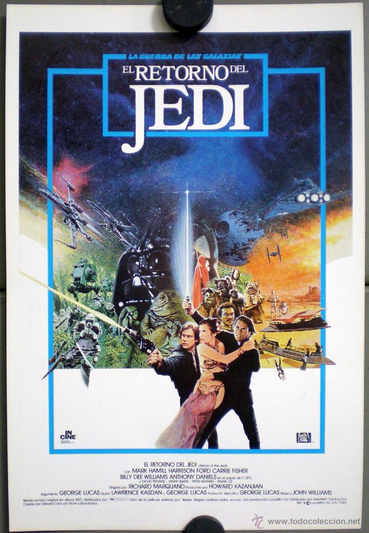 G0886 EL RETORNO DEL JEDI GUERRA DE LAS GALAXIAS STAR WARS GUIA ORIGINAL INCINE ESTRENO (Cine - Guías Publicitarias de Películas )