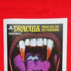 Cine: DRACULA PRINCIPE DE LAS TINIEBLAS, GUÍA SIMPLE EXCTE ESTADO CRISTOPHER LEE 1974 PUBLI CINE TARRAGONA. Lote 42617280