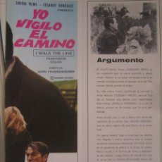 Cine: YO VIGILO EL CAMINO GREGORY PECK GUIA PUBLICITARIA ORIGINAL ESTRENO. Lote 42739720