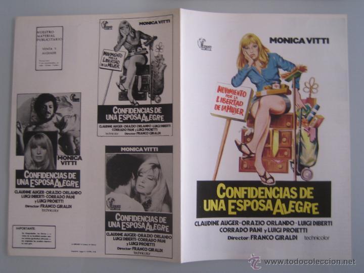 CONFIDENCIAS DE UNA ESPOSA ALEGRE MONICA VITTI GUIA PUBLICITARIA ORIGINAL ESTRENO (Cine - Guías Publicitarias de Películas )