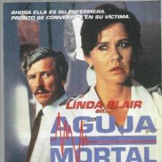 Cine: AGUJA MORTAL LINDA BLAIR GUIA ORIGINAL Q. Lote 42796544